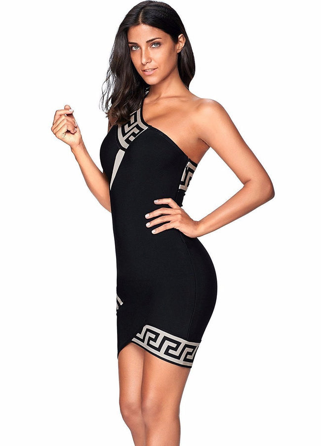 Kiss My Shoulder Bandage Dress - DIOR BELLA