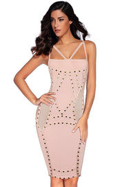 Blush Studded Bandage Dress - DIOR BELLA