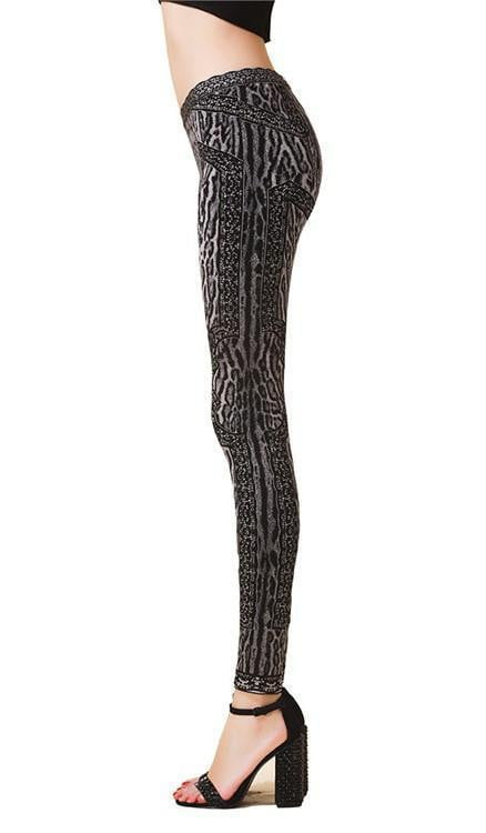 Cheetah Print Bandage Leggings - DIOR BELLA