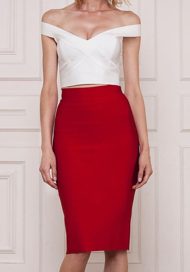High Waist Midi Bandage Skirt - DIOR BELLA