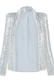 White Beaded Sequins Cocktail Jacket - DIOR BELLA