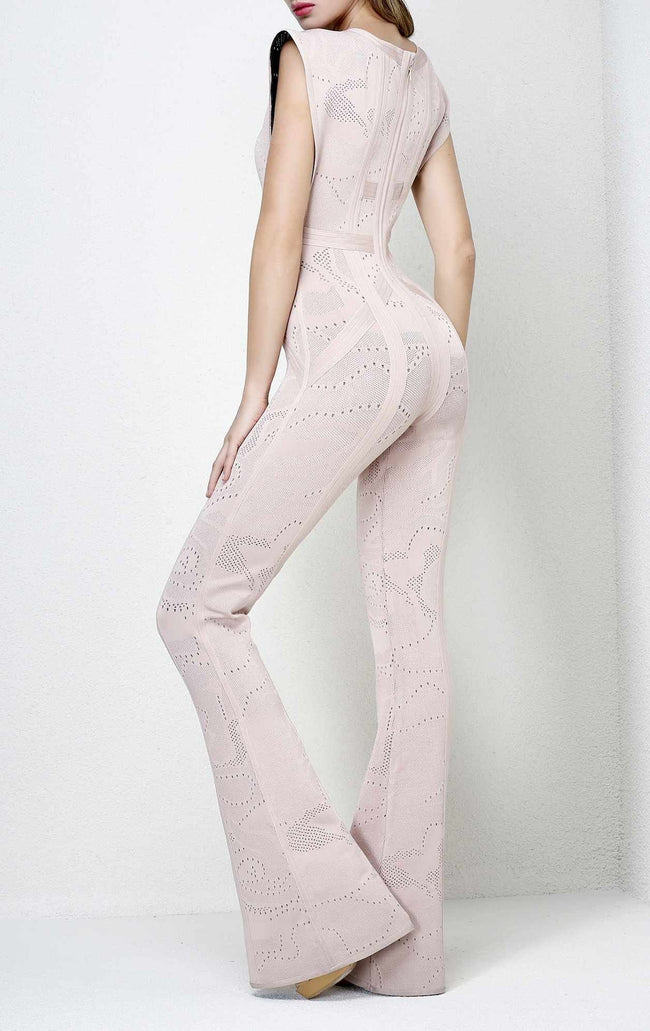 The Believer Blush Bandage Jumpsuit - DIOR BELLA