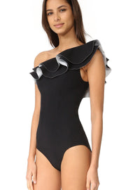 Duncan Ruffled Shoulder One Piece Swimsuit - DIOR BELLA