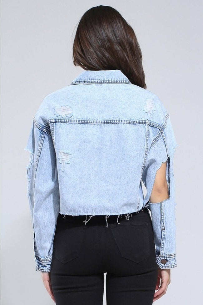 Light Blue Crop Denim jacket - DIOR BELLA