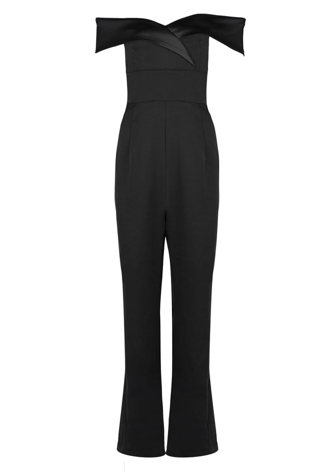 Alexis Black Off Shoulder Jumpsuit - DIOR BELLA