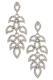 Rhinestone leaf vine link dangle earring - DIOR BELLA