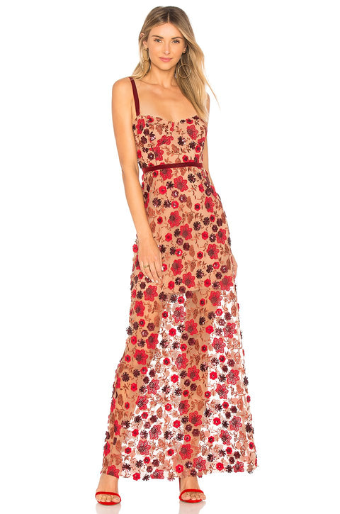 Rosa Lace Sequins Maxi Dress - DIOR BELLA