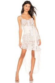 Summer White Lace Asymmetrical Dress - DIOR BELLA