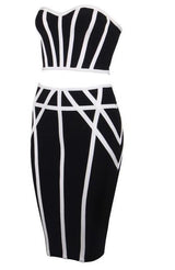 Royal Textured Bandage Skirt Set - DIOR BELLA