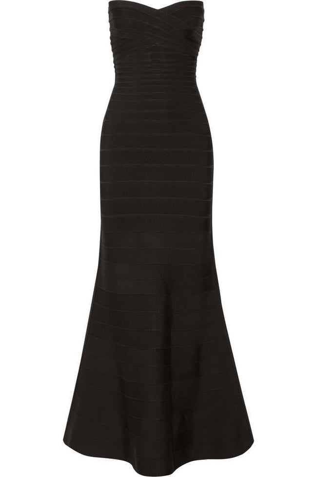 Black Strapless Bandage Gown - DIOR BELLA