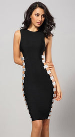 Shame On Me Black Cutout Bodycon Dress - DIOR BELLA