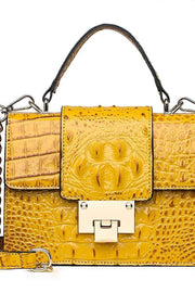 Croc Emboss Vegan Leather Kelly Handbag - DIOR BELLA
