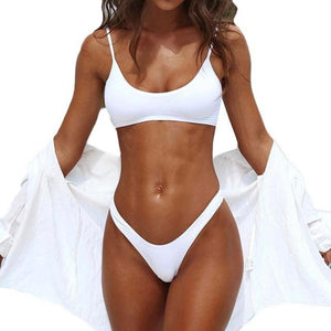 Yes Waves White Two Piece Bikini Swimsuit