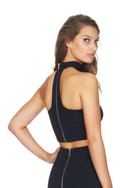 Back Zipper Bandage Crop Tank Top - DIOR BELLA