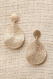 Hammered Teardrop Earrings - DIOR BELLA