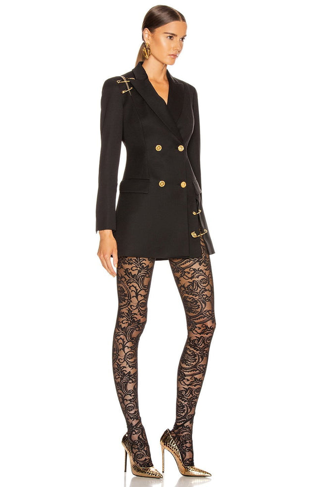 Black Pin Blazer Jacket