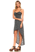 Women's Abstract Burnout Hi-Low Dress