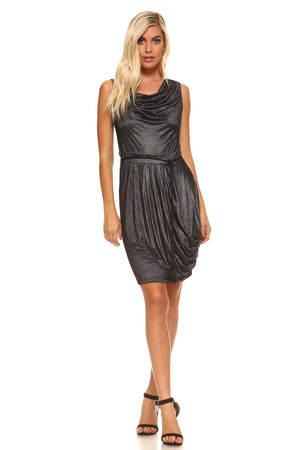 Cowl Neck Cocktail Bodycon Dress