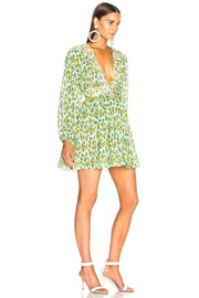 Green Floral Micro Pleated Mini Dress - DIOR BELLA