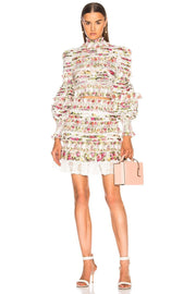 Coco Floral  Smocked Skirt And Blouse Set - DIOR BELLA