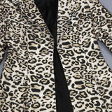 Leopard Print Jacket and Skirt Suit