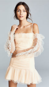 Pretty Girl Lace Off Shoulder Mini Dress - DIOR BELLA