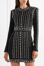 Black Rock Beaded Bandage Mini Dress - DIOR BELLA