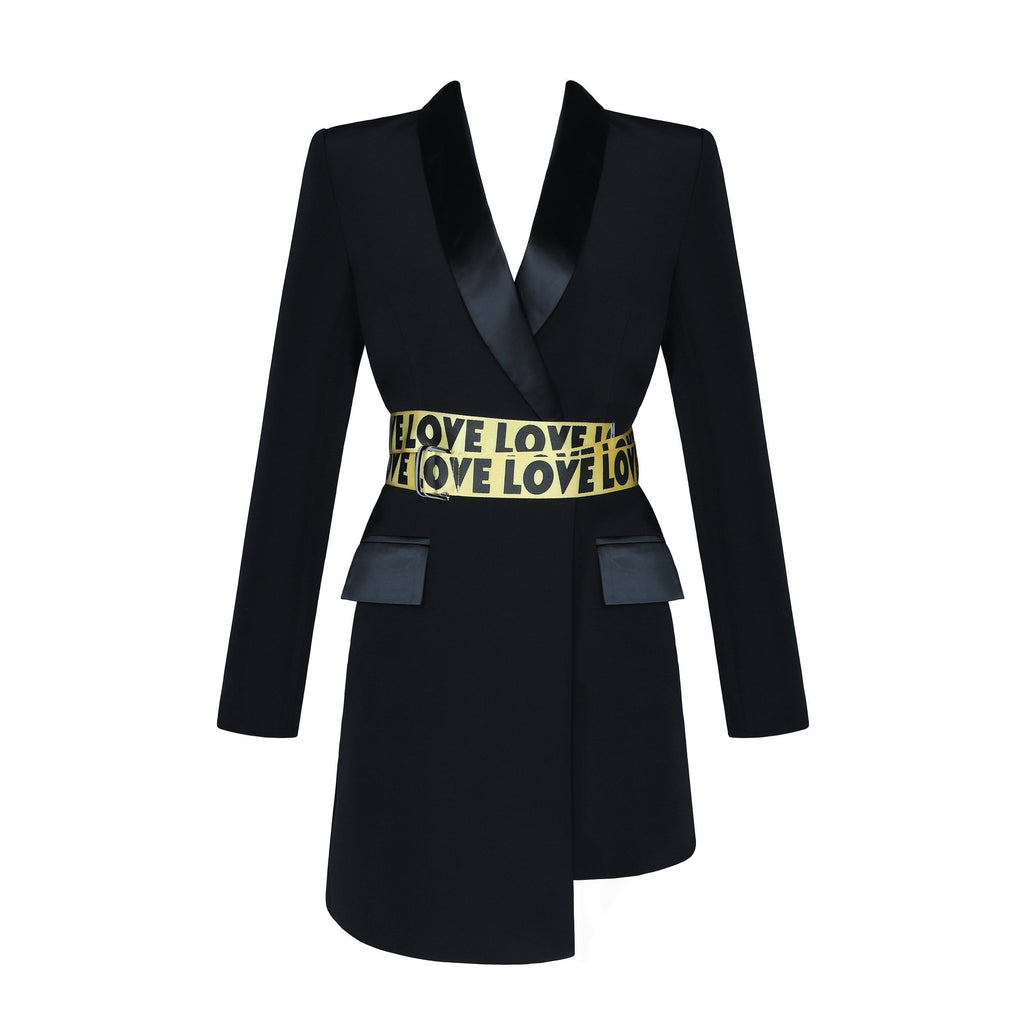 Black Love Love Blazer Jacket Dress - DIOR BELLA
