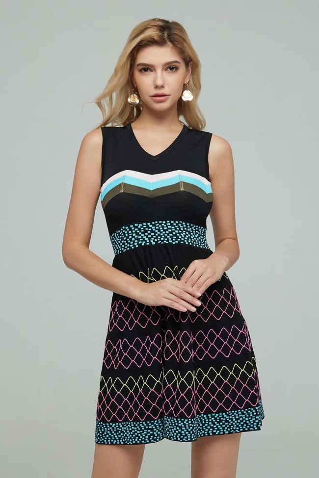 Multi Color Skater Mini Dress - DIOR BELLA