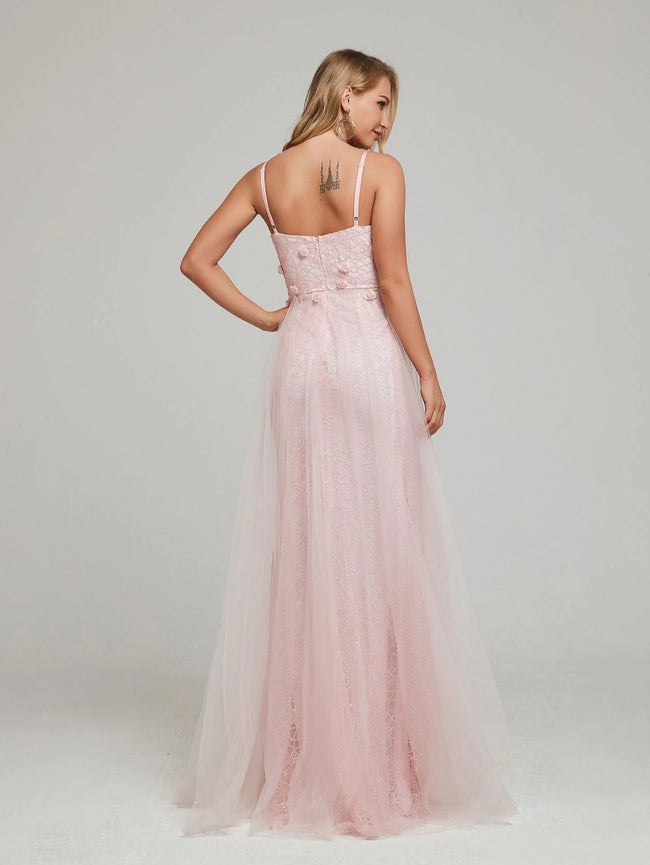 Pink Roses And Tulle Maxi Dress - DIOR BELLA