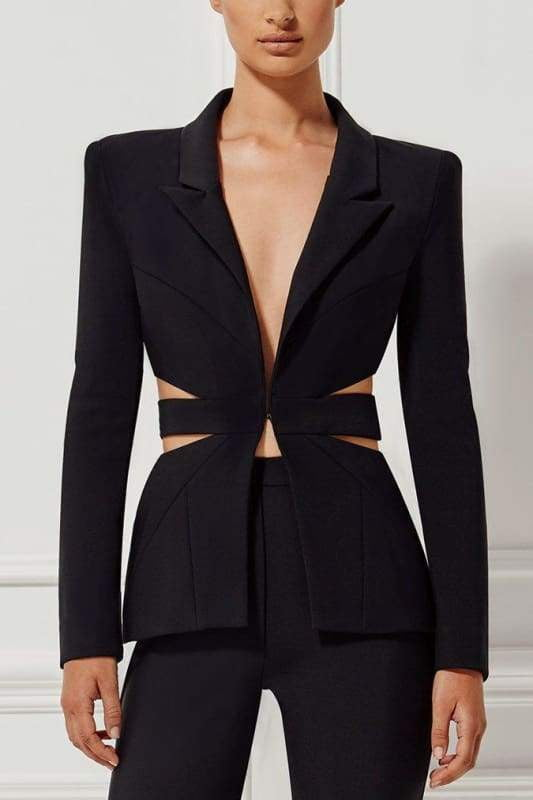 Black Cutout Back Pantsuit - DIOR BELLA
