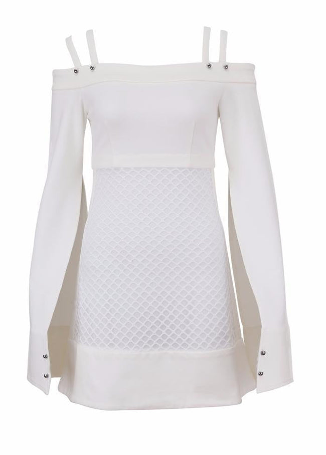 Cape Setter White  Off Shoulder Dress - DIOR BELLA