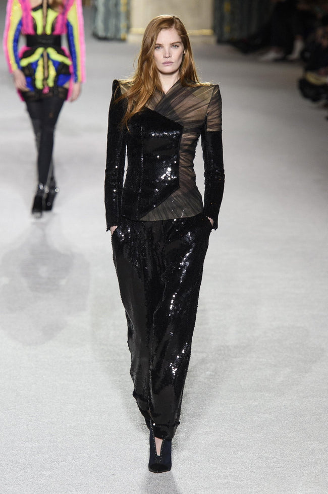 Donnica Black Sequins And Tulle Pant Suit - DIOR BELLA