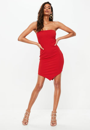Say Hello Strapless Bandage Mini Dress