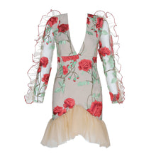 Roses Are Red Lace Ruffled Mini Dress - DIOR BELLA