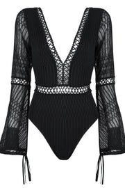 Bell Sleeve V-Neck Bodysuit - DIOR BELLA