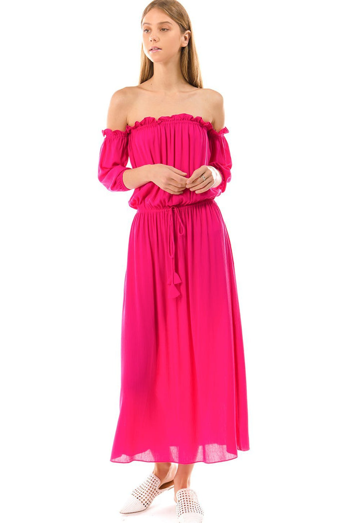 Off Shoulder Maxi Dress - DIOR BELLA