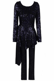 Midnight Peplum Sequins Jumpsuit - DIOR BELLA