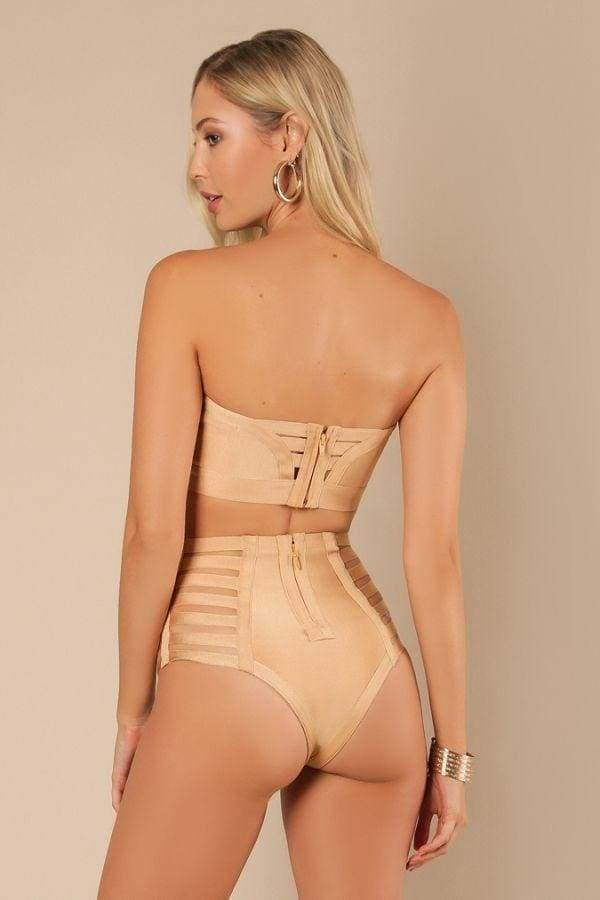 Naked Sun Two Piece Bandage Swimsuit - DIOR BELLA