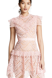 Pink Triangle Lace Mini Dress - DIOR BELLA