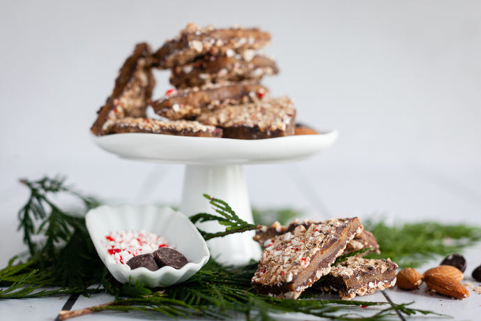Peppermint Dark Chocolate Toffee