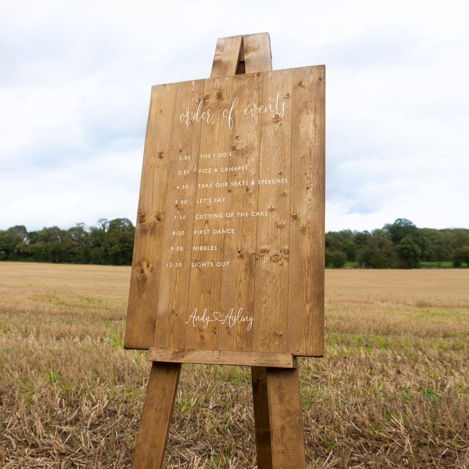 Wedding Sign Hire Example