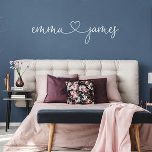 Personalised Love Wall Sticker