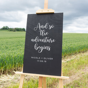 Custom Wedding Sign In Field