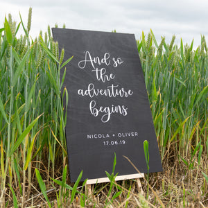 Personalised Wedding Sign In Field