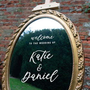 Whimsical Welcome To Our Wedding Sticker