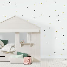 Black and Gold Organic/Natural Dots Wall Stickers