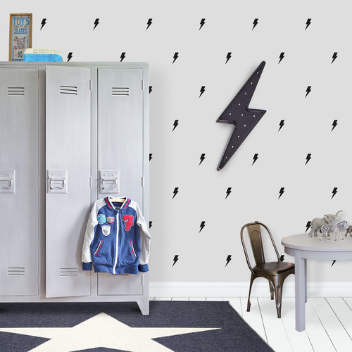 Black Lightning Bolt Wall Stickers