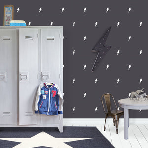 White Lightning Bolt Wall Stickers
