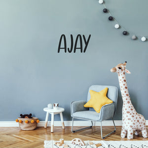 Cute Personalised Kids Decal